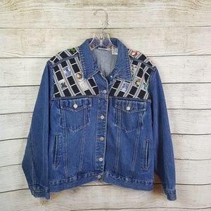 Jackets & Blazers - Vintage BillBass jean jacket size medium